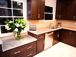 Dark Cabinet Kitchen Designs by Dark Kitchen Cabinets With Light Granite Fair Laundry Room Ideas
