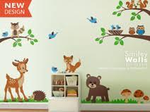 kinderzimmer wandsticker wandtattoo waldtiere 87 individuelle produkte aus der kategorie