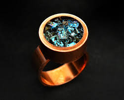 rings with crystal images Boho copper and bismuth ring custom order iridescent bismuth jpeg