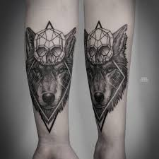 forearm skull tattoos abstract skull and wolf tattoo on forearm tattoo pinterest