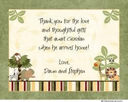 custom thank you cards safari ride folded thank you card expecting parents