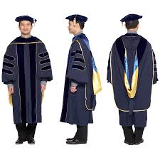 doctoral graduation gown of california phd gown cap regalia set