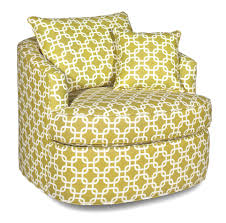 Swivel Accent Chair by Contemporary Swivel Chair With Loose Pillow Back By Craftmaster