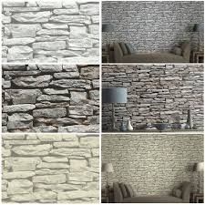 moroccan wall natural slate stone wallpaper by arthouse grey