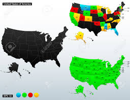Untied States Of America Map by United States Of America Map With Internal Boundaries And State