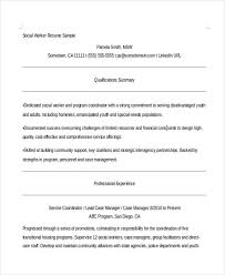 Msw Resume Social Worker Resumes 8 Free Word Pdf Format Download Free