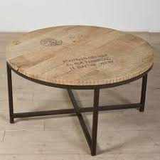 round wood and metal side table laser engraved cable drum ouija style table wiccan blood