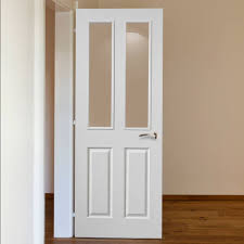 Fire Rated Doors With Glass Windows by Jbk Canterbury White Primed 2 Pane Fire Door 1 2 Hour Fire Rated