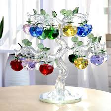 40mm new year chirstmas tree hanging cut glass apple