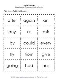 Words Cards A Sight Words List For Every Primary Grade And Activities For