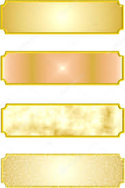 gold name plates 3d metal name plates in gold stock vector retroartist 16898859