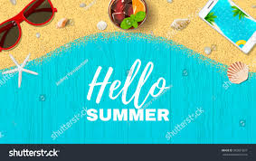 beautiful summer vacation web banner vector stock vector 593681207