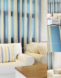 Striped Living Room Curtains by Presentation Blue Striped Living Room Mediterranean Style Curtains