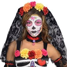 sugar skull costume day of the dead sugar skull mexican skeleton party fancy dress