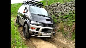 mitsubishi delica space gear delica 4x4 campervan off road youtube