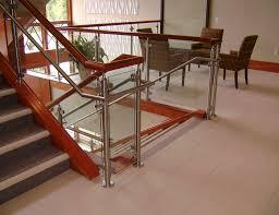 monaco post supported glass railing sc railing company