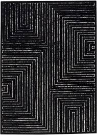 Modern Black Rugs Black White Rug Imposing Decoration Safavieh Lyndhurst