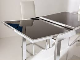 expandable glass dining room tables extending glass dining table