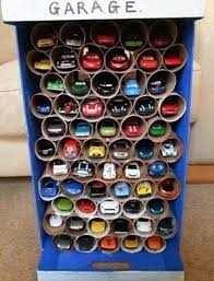 toilet paper roll toy car garage craft the boys store blog