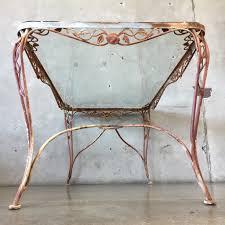 Vintage Metal Patio Furniture - vintage iron patio table with tempered glass top u2013 urbanamericana
