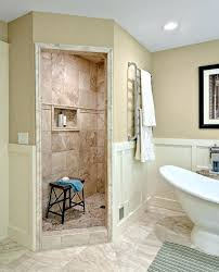Open Showers No Doors Shower With No Door Tiled Walk In Shower No Door Home Remodel Best