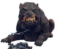 halloween life size animated hell hound rabid dog prop decoration