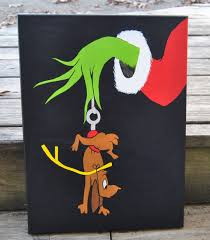 how the grinch stole christmas canvas painting max grinch wall art