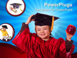 toddler cap and gown toddler powerpoint templates ppt themes with toddler backgrounds