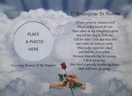 memorial poems for in memory of if roses grow in heaven memorial