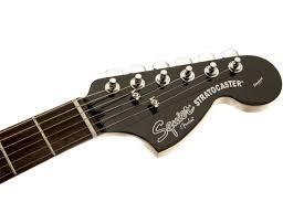 squier black u0026 chrome standard stratocaster hss squier