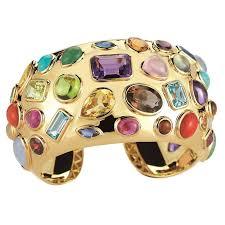 multi colored gold bracelet images Seaman schepps multicolored stone gold cuff bracelet for sale at jpg
