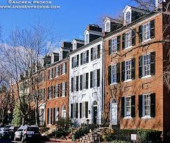 n street colonial rowhouses georgetown fine art photo by andrew