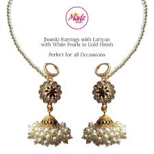 jhumka earrings madz fashionz uk shaina gold pearl jhumki jhumka earrings jhumkis