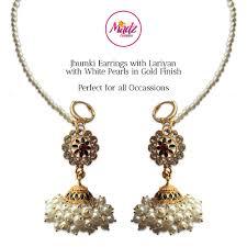 jhumka earring madz fashionz uk shaina gold pearl jhumki jhumka earrings jhumkis