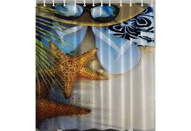 tropical theme shower curtain