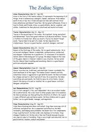 the zodiac signs worksheet free esl printable worksheets made by