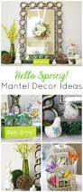 Spring Decor 2017 Hello Spring Mantel Decorating Ideas Design Improvised
