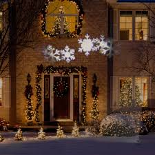 gemmy lightshow christmas lights led projection snow flurry lights