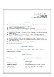 Resume For Manual Testing Resume Shweta Subhedar Bhide