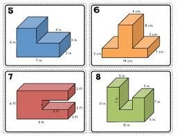 volume of composite rectangular figures task cards 5th tpt