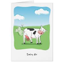 Cow Birthday Card Dairy Air Cow Fart Funny Birthday Card Zazzle Com