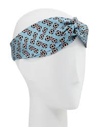 silk headband fendi flower print silk headband