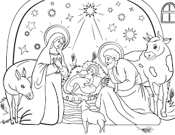 Manger Coloring Pages To Print nativity coloring pages getcoloringpages