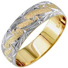 wedding ring depot 14k two tone gold patterns unique band 6mm 3000258 shop at