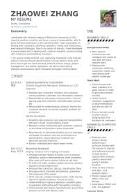 Project Coordinator Resume Examples by Coordinator Resume Samples Visualcv Resume Samples Database