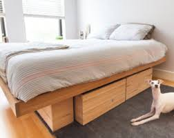 King Bed Platform Reclaimed Wood Platform Bed Storage Bed Herringbone