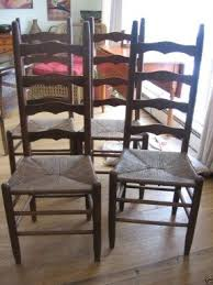 Antique Oak Ladder Back Chairs Ladder Back Chairs Rush Seats Foter
