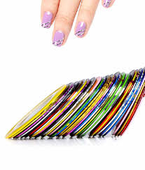 ski nail art striping roll tape with nail tip decoration sticker