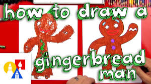 how to draw a gingerbread man or woman youtube