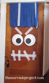 diy door monster decoration for halloween october crafts monster